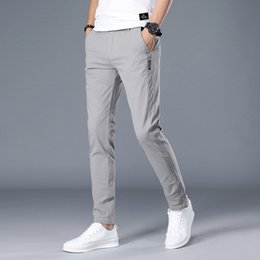 $enCountryForm.capitalKeyWord Australia - Harajuku Cotton Men Pants Casual Mens Business Male Trousers Classics Lightweight Straight Full Length Fashion breathing Pant