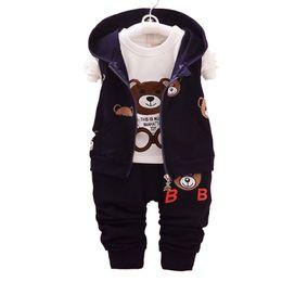 $enCountryForm.capitalKeyWord Australia - 2019 Autumn Boy Clothes Suits Cartoon Baby Kids Outerwear Hoodie Jacke T-shirt Pants 3Pcs Sport Clothing Sets Toddler Tracksuit