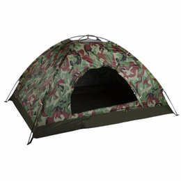 $enCountryForm.capitalKeyWord Australia - Outdoor Portable Single Layer Camping Tent Camouflage 2 Person Waterproof Lightweight Beach Fishing Hunting Tent Wigwam