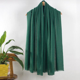 $enCountryForm.capitalKeyWord Australia - Hot Sale Red Lady Cotton Scarves Shawls Women Solid Color Hijab Cape Stylish Brand Tippet Long Warm Muffler Chal 011101