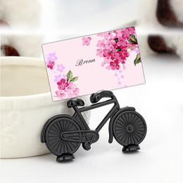 $enCountryForm.capitalKeyWord Australia - Black Bicycle Shape Place Card Holder Vintage Alloy Antique Table Number Place Stand Memo Holders Wedding Decoration Party Gift