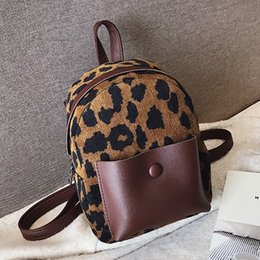 $enCountryForm.capitalKeyWord NZ - Leopard Print Small Backpacks For Women 2019 Female Ladies Mini Cute Backpack Kids Fashion Back Pack Travel Chain Plush Bags