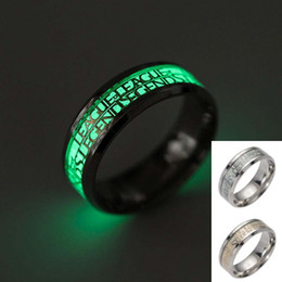 $enCountryForm.capitalKeyWord UK - LOL League of Legends Ring Stainless Steel Fluorescent Glowing Light Finger Rings Band Glow In The Dark Gold Silver Pattern Rings