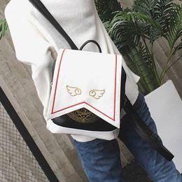 Anime Card Captor Sakura Girls Backpack Cardcaptor Shoulder Bag Kawaii  Cosplay Lolita Magic Bags With Embroidery Wings 393 29a052b4c76e6
