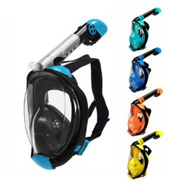 advance camera Australia - Diving Mask Full Face Snorkel Mask Set with Anti Fog Advanced Breathing System Adult Kids Swimming Detachable Camera Mount
