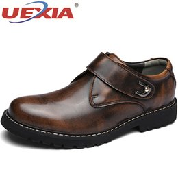 $enCountryForm.capitalKeyWord NZ - UEXIA Handmade Outdoor Breathable Men's Oxfords Shoes Business Dress Top Quality Dress Flats Fashion Leather Casual Men Shoes