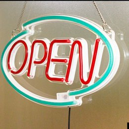 $enCountryForm.capitalKeyWord Australia - Factory price 18''x10'' Clear sheet Green acr line Red OPEN neon electronic lighting signs for Retail store window dressing