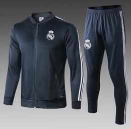 China real Madrid Thai top quality training suit sport jacket 2018 2019 Season MODRIC ASENSIO ISCO BALE MARCELO Windbreaker cheap jacket sport soccer suppliers