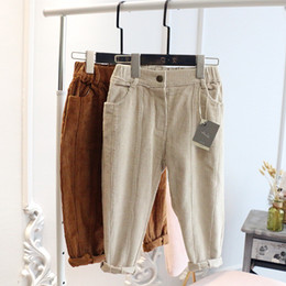 $enCountryForm.capitalKeyWord NZ - WLG boys girls skinny winter velvet pants kids thick beige brown casual all match trousers baby winter warm clothes children 2-7
