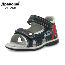 $enCountryForm.capitalKeyWord Australia - Apakowa Brand Boys Shoes New 2018 Summer Toddler Kids Sandals Orthopedic Pu Leather Children's Shoes For Boys Flat Boys Sandals Y19062001