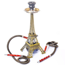 $enCountryForm.capitalKeyWord Australia - 2019 Newest Hookah Shisha 40cm Height Paris Eiffel Tower Shape Smoking Pipe Two Hose Kit Set Innovative Design Narguil