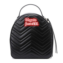 Venta al por mayor de Alta calidad de moda de lujo diseñador Marmont Pu cuero Mini mujeres bolsa niños mochila escolar famosa señora mochila bolsa de viaje bolsa
