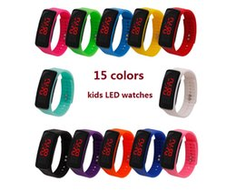 $enCountryForm.capitalKeyWord Australia - wholesale Fashion Sport LED Unisex Watches Candy Jelly men women Silicone Rubber Touch Screen Digital Watches Bracelet Kids Wristwatch z314