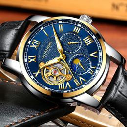 $enCountryForm.capitalKeyWord Australia - Guanqin Mens Watches Top Brand Luxury Tourbillon Skeleton Watch Men Sport Leather Waterproof Automatic Mechanical Wrist Watch J190709