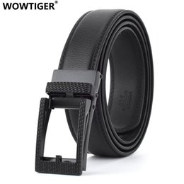 Men's Belts El Barco High Quality Leather Men Belt Black Gold Automatic Buckle Crocodile Male Belts Luxury Brand Designer Casual Waist Strap