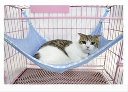 free beds Canada - Cats Hammock Summer Portable Cats Pets Under Chair Breathable Air Mesh Hammock Multifunction Cats Beds DHL Free 7797