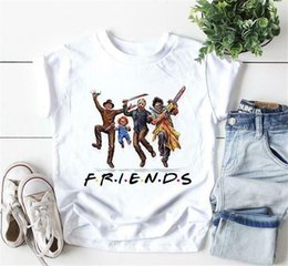 $enCountryForm.capitalKeyWord Australia - Characters Friends Halloween Gift T Shirt White Cotton Men S-6Xl Confortable Tee Shirt