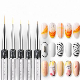 acrylic paint gel nails Australia - ViiNuro Nail Art Brush 5 Sizes Tip Gel Brush For Drawing On Nails Professional Nail Acrylic For Manicure Painting Tools
