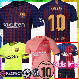 Women football uniform online shopping - 10 Messi Barcelona Soccer Jersey Men Women Kids kits A INIESTA SUAREZ MALCOM Dembele COUTINHO O DEMBELE Football uniforms shirts