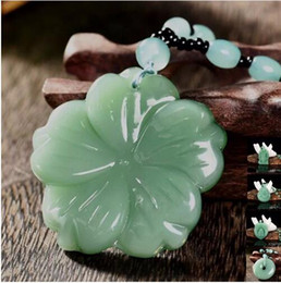 $enCountryForm.capitalKeyWord Australia - Mix Chinese Handmade Natural Jade Healing Crystal Carved Buddha Reiki Elephant Amulet Lucky Pendant Necklace Fine Jewelry Charm