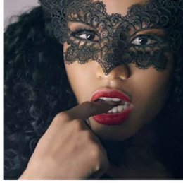 1 PZ Vendite Calde Nero Sexy Lady Maschera di Pizzo Maschera per Gli Occhi Per Masquerade Party Fancy Dress Costume / Halloween Party Fancy in Offerta