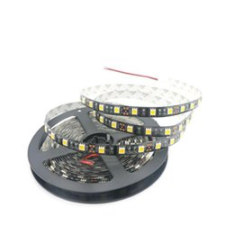 super bright led tape UK - 5M New Design Black PCB 5050 SMD Led Strip Super Bright 60leds m No-Waterproof DC12V LED Tape Led Ribbion For Home