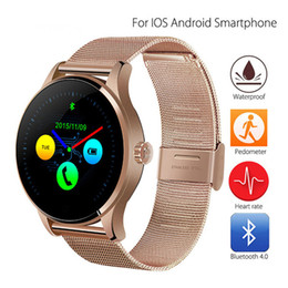 ios compatible Canada - K88H Smart Watch Track Wristwatch Bluetooth Heart Rate Monitor Pedometer Dialing Smartwatch Phone For Android IOS