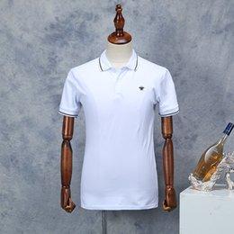 $enCountryForm.capitalKeyWord NZ - 19ss New Arrival Men Brand Polo Shirt Fashion Pattern Black White Short Sleeve Summer Straight Cotton Polos Male Size M-XXL