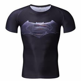 $enCountryForm.capitalKeyWord Australia - Batman VS Superman T Shirt Tee 3D Printed T-shirts Men Short sleeve New Cosplay Costume bodybuilding out door sports MMA train