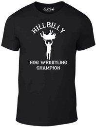 Опт Хилбилли Hog Борьба Champ тенниска - Смешные футболки комической борьбы быдло