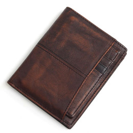 $enCountryForm.capitalKeyWord Australia - Rfid Blocking 100% Cow Genuine Leather Men Wallets ,brush Color Short Style Male Purse,carteira Masculina Original Brand