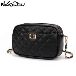 $enCountryForm.capitalKeyWord Australia - NIGEDU Chain Women Messenger Bags small PU leather Crossbody Bags Diamond pattern design female Shoulder Phone Purse