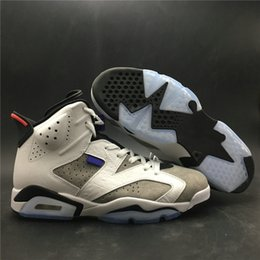 Dark Cycles NZ - Newest 6 Flint Grey Man Basketball Designer Shoes Comfort VI Ltr White Black Infrared 23 Dark Concord Fashion Sports Sneakers Top Quality