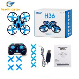 Plastic Mode Australia - LeadingStar JJRC H36 RC Drone Mini Dron 2.4GHz 4CH 6 Axis Gyro RC Quadcopter with Headless Mode Drones Flying Helicopter For Kid
