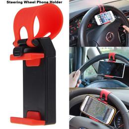 $enCountryForm.capitalKeyWord Australia - Universal Car Steering Wheel Clip Mount Holder Cradle Stand For Cell Phone GPS car Holder for 50-80mm smart phones BBA130