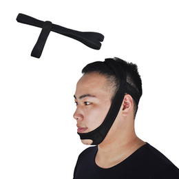 sleep apnea devices Australia - Black Anti Snoring Chin Strap Neoprene Stop Snoring Chin Strap Support Belt Anti Apnea Jaw Solution Sleep Device New Design 0613019