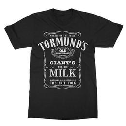Black milk t shirts online shopping - Tormund S Old Giantsbane Brand Giant S Milk Game Shirts Thrones New T Shirt Men Funny Short Sleeve Funny T Shirts For Men