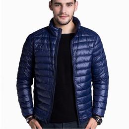 Mens Black Parkas Australia - 2019 Mens Down Jacket Fashion Spring Autumn Winter Stand Collar Casual Warm Coat thin White Duck Down Jackets Men Parkas Thin