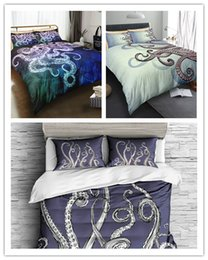 $enCountryForm.capitalKeyWord Australia - 3D Printing Octopus Design 2 3 Bedding Set With Pillowcase Beautiful pattern Real effect lifelike bedclothes
