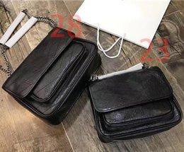 $enCountryForm.capitalKeyWord Australia - Luxury Classic Top Quality V Wave Pattern Flap Chain Bag Oil Wax Real Leather Shoulder Handbag Designer Bags Crossbody Purse Messenger bag