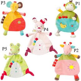 ElEphants baby online shopping - 2019 Newborn Infant Style Baby Soft Towel Deer Cat Frog Monkey Elephant Comfort Appease Plush Rattles Toy Animals Comforting Blanke C3