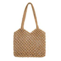Handmade sHopping bags online shopping - Women Casual Bohemian Handmade Woven Beach Shopping Bag
