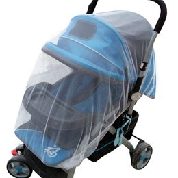 Wholesale Carriage Cover White Infants Baby Girl Boy Stroller Pushchair Mosquito Insect Net Safe Mesh Buggy Crib Netting Cart Mosquito Net
