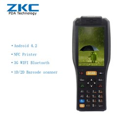 Terminal daTa online shopping - android4 g wireless data barcode scanner pda terminals with printer