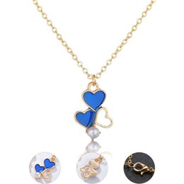 $enCountryForm.capitalKeyWord Australia - Fashion Women Imitation Pearl of Love Pendant Necklaces Clavicle Chains Necklace Chockers Necklace Women Valentine's Day Gift Jewelr