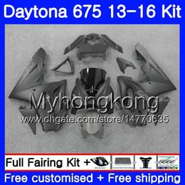 Dark blue matte online shopping - Body For Triumph Daytona Daytona Bodywork HM Daytona675 Daytona Fairings matte black hot