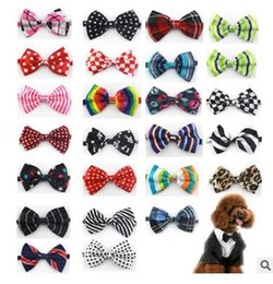 $enCountryForm.capitalKeyWord Australia - 50pc lot Factory Sale New Colorful Handmade Adjustable Dog Pet Tie butterfly Bow Ties Cat Neckties Dog Grooming Supplies 50 color Y02