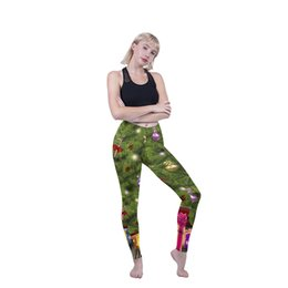 ankle leggings wear UK - Girls Leggings Christmas Trees 3D Graphic Full Printed Sportwear Yoga Wear Pants Woman Fitness Pencil Pants Lady Stretchy Trousers (Y600889)