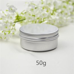 $enCountryForm.capitalKeyWord Australia - 50g Aluminum Cream Jar Makeup Maquillaje Lip Gloss Balm Empty Cosmetic Metal Tin Containers Lip Balm Bottles 50pcs lot