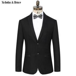 Wedding frocks yelloW online shopping - N B Suit Jacket Men Formal Black Blazer Mens Frock Coat Wedding Jacket Men Woolen Cotton Suit Coat Dress Blazer Man SR18